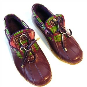 Sperry top-sider low duck boots purple 7